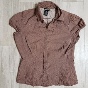Wet seal brown short sleeve shirt